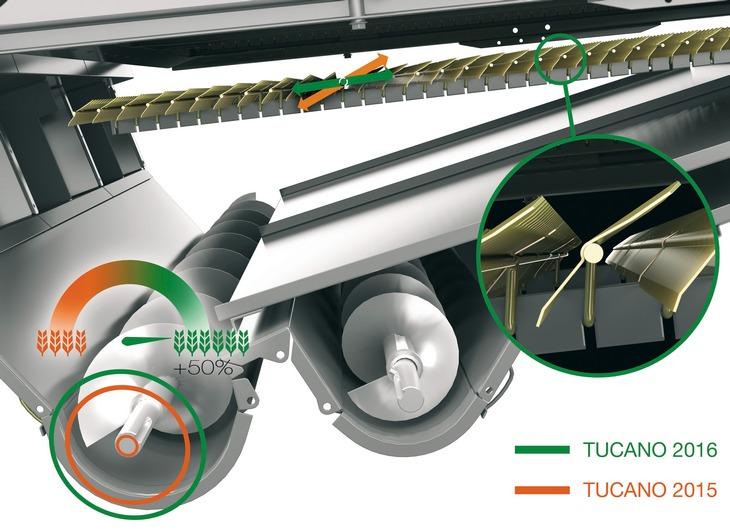 Claas Tucano 560 edycja 2017 2 Nowy CLAAS TUCANO 560 z APS Hybrid System   kompaktowy i wydajny